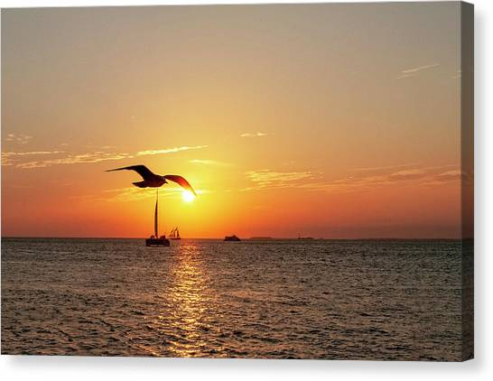 The Famous Key West Sunset  Canvas Print