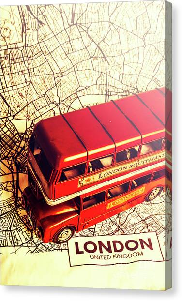 Travel Destinations Canvas Print - The Famous Red Bus by Jorgo Photography - Wall Art Gallery