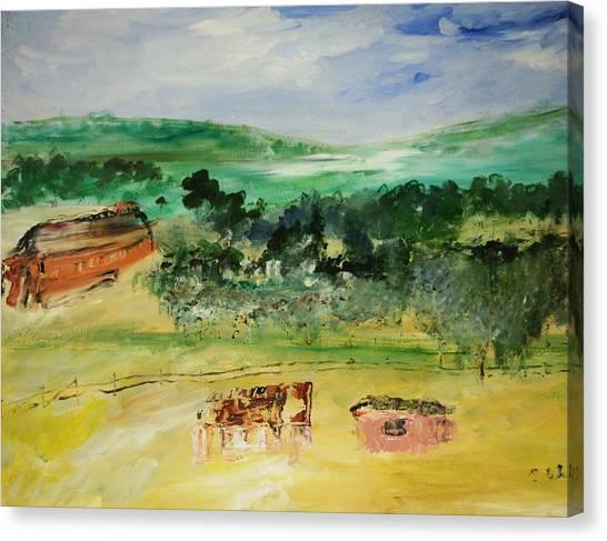 The Farm Canvas Print by Edward Wolverton
