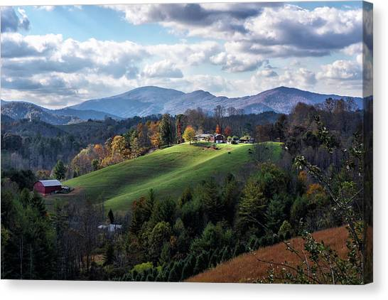 The Farm On The Hill Canvas Print