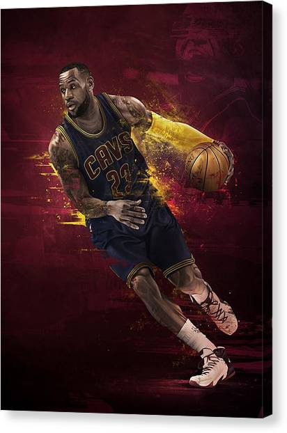 Kyrie Irving Canvas Print - The Fast And Furious by Jeric Barnutz