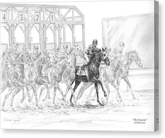 The Favorite - Horse Racing Art Print Canvas Print