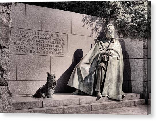 Franklin D. Roosevelt Canvas Print - The Fdr Memorial by JC Findley
