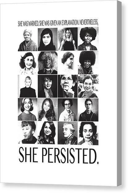 Elizabeth Warren Canvas Print - The Feminist Face by Seth Baricando