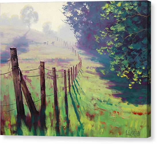 Trees Canvas Print - The Fence Line by Graham Gercken