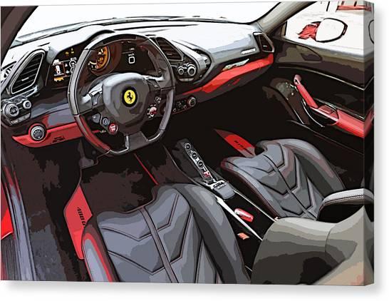 The Ferrari 488 2016 Canvas Print