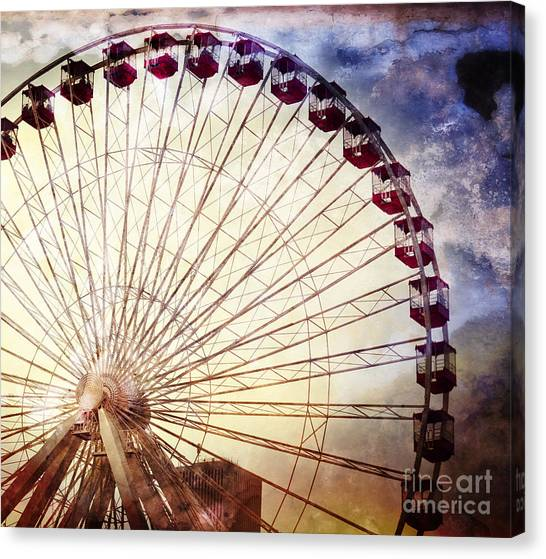 The Ferris Wheel At Navy Pier Canvas Print