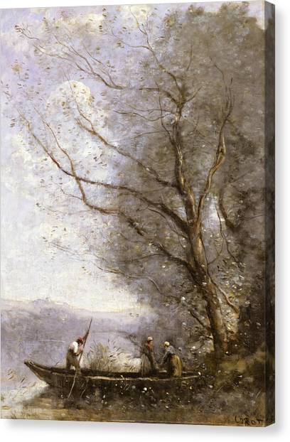 Camille Canvas Print - The Ferryman by Jean-Baptiste-Camille Corot