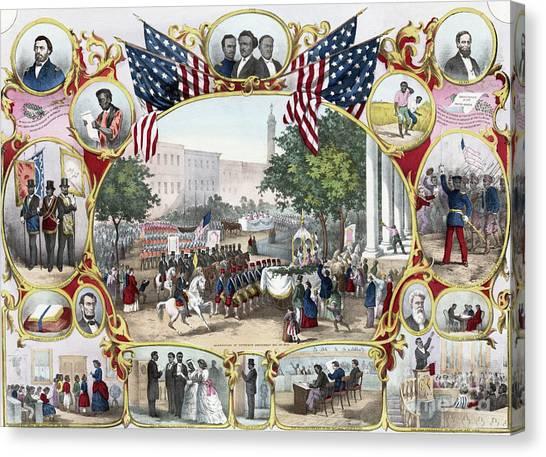 Washington Monument Canvas Print - The Fifteenth Amendment by James Carter Beard