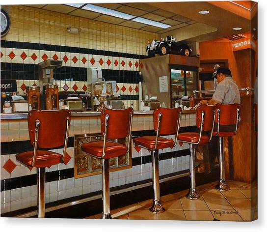 Diners Canvas Print - The Fifties Diner 2 by Doug Strickland