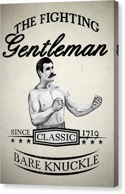 Boxing Canvas Print - The Fighting Gentlemen by Nicklas Gustafsson
