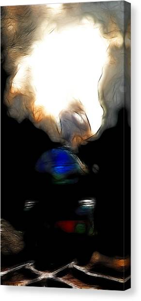 Bullet Trains Canvas Print - The Final Junction Bound For A Place I Once Called Home . Abstract . Tall Version by Wingsdomain Art and Photography