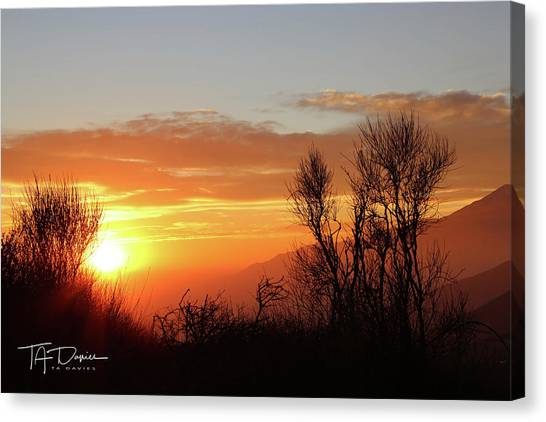 The Fire Of Sunset Canvas Print