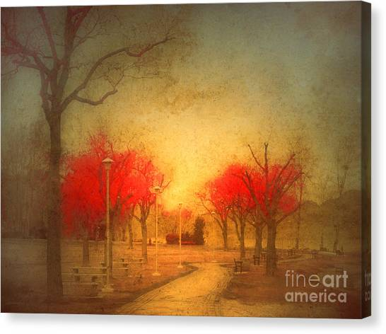 The Fire Trees Canvas Print