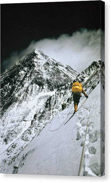 Mount Everest Canvas Print - The First American Team Makes by Barry Bishop