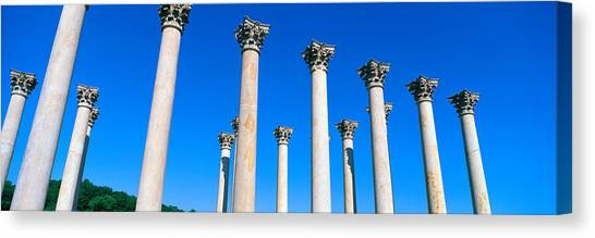 D.c. United Canvas Print - The First Capitol Columns Of The United by Panoramic Images