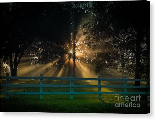 Canvas Print featuring the photograph The First Day Of Creation by T Lowry Wilson