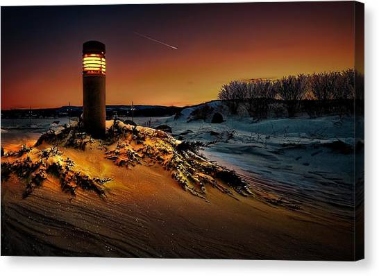 The First Light At Sunset Canvas Print