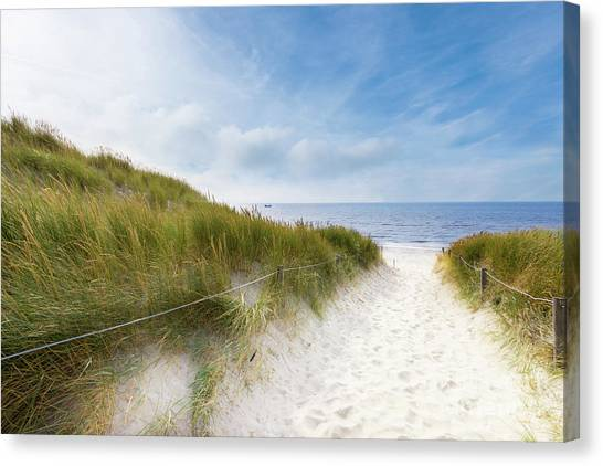The First Look At The Sea Canvas Print