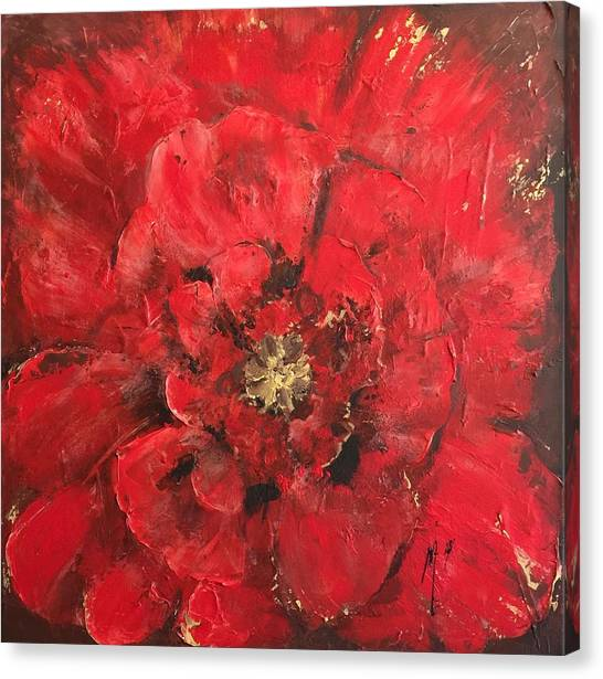 The First Red Poppie. Canvas Print
