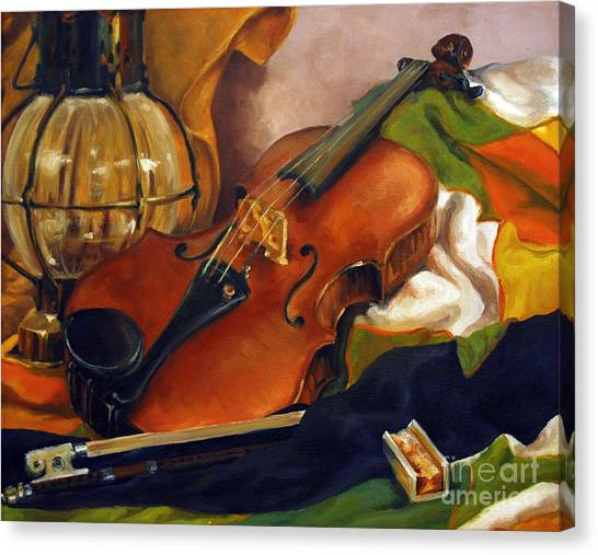The First Violin Canvas Print