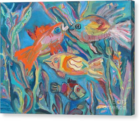 The Fish Canvas Print by Marlene Robbins