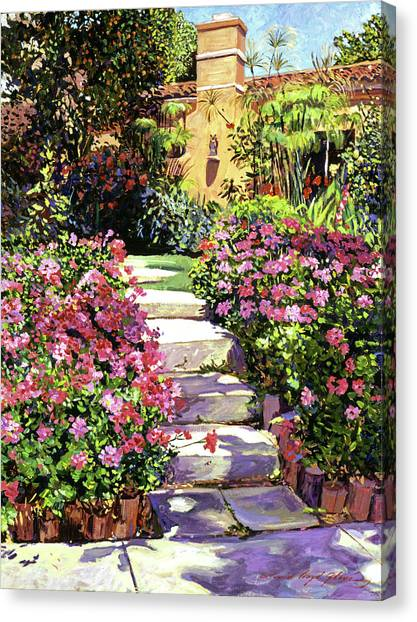 Beverly Hills Canvas Print - The Five Steps by David Lloyd Glover