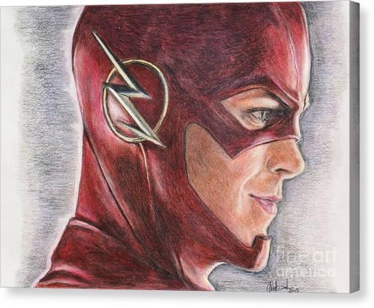 The Flash / Grant Gustin Canvas Print