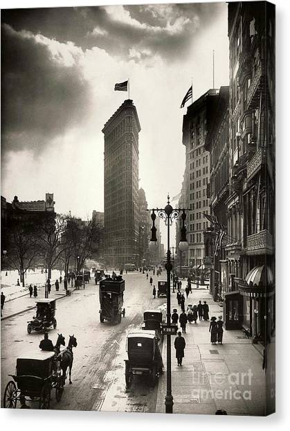 Etc Canvas Print - The Flatiron Building by Jon Neidert