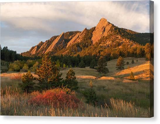 Four Seasons Canvas Print - The Flatirons - Autumn by Aaron Spong