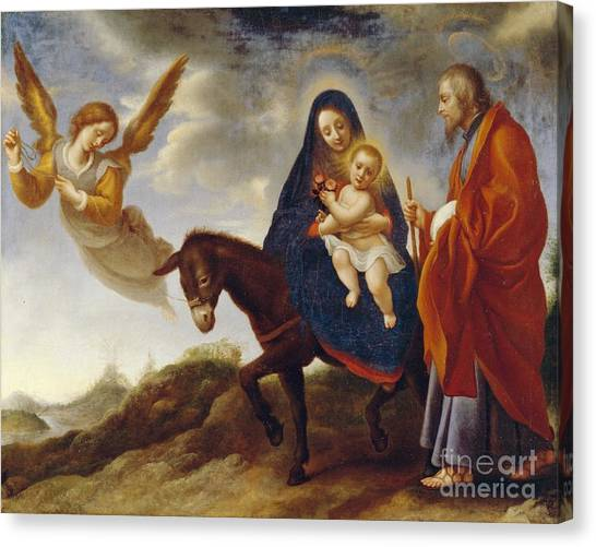 Baroque Art Canvas Print - The Flight Into Egypt by Carlo Dolci