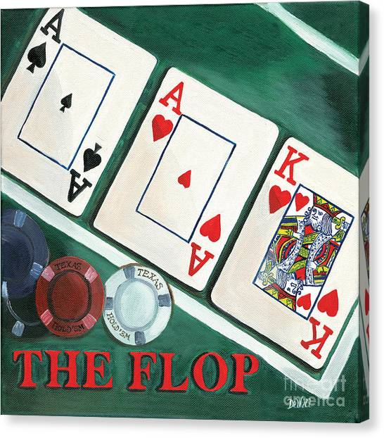 Ace Canvas Print - The Flop by Debbie DeWitt