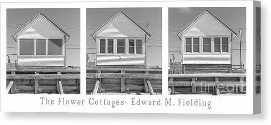 Cottage Style Canvas Print - The Flower Cottages Trio Poster by Edward Fielding