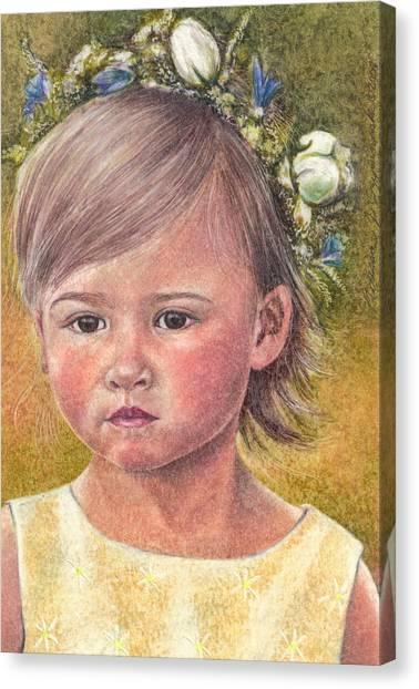 The Flower Girl Canvas Print by Melissa J Szymanski