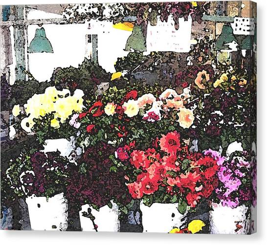 The Flower Market Canvas Print by James Johnstone