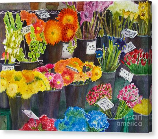 The Flower Market Canvas Print