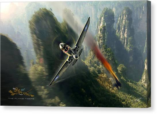 Ok Canvas Print - The Flying Tigers by Peter Van Stigt