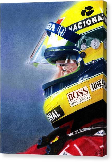 Automobile Canvas Print - The Focus Of Ayrton by Lyle Brown