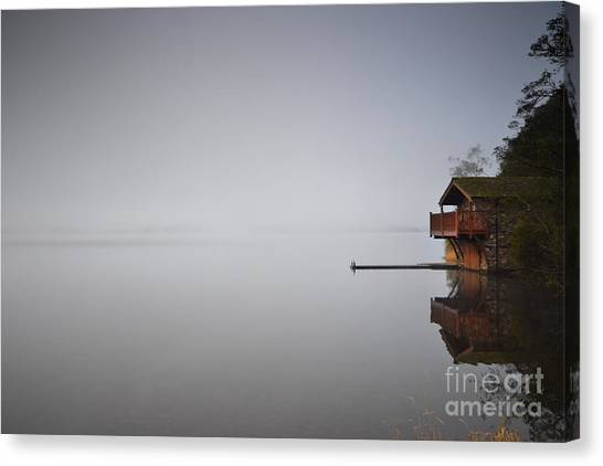 Duke University Canvas Print - The Fog by Smart Aviation