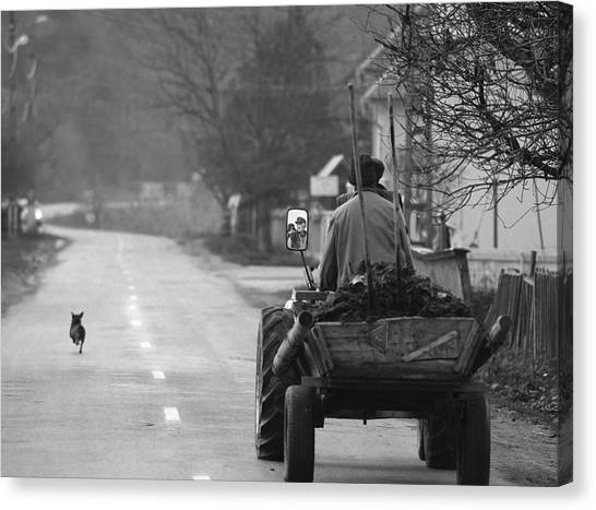 Tractor Canvas Print - The Followers by Mihnea Turcu
