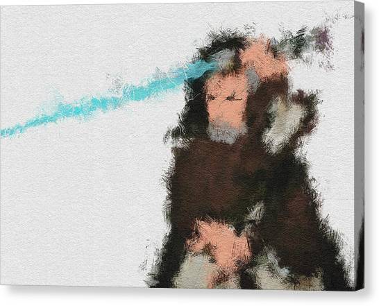 Obi-wan Kenobi Canvas Print - The Force by Miranda Sether