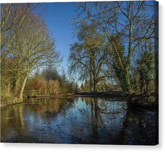 The Ford At The Street Canvas Print