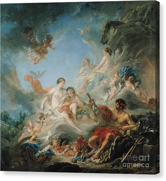 Vulcans Canvas Print - The Forge Of Vulcan by Francois Boucher