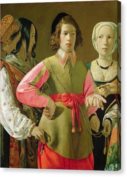 Accomplice Canvas Print - The Fortune Teller by Georges de la Tour