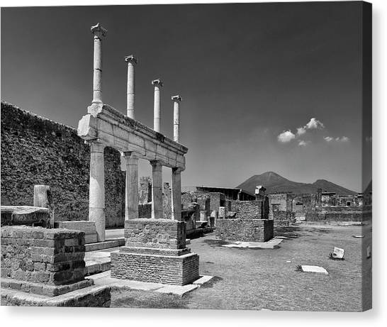 The Forum Canvas Print - The Forum Of Pompeii by Guido Montanes Castillo