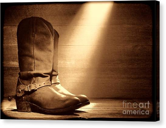 The Found Boots Canvas Print