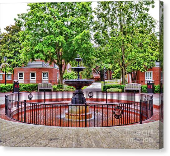 The Fountain At Radford University Canvas Print