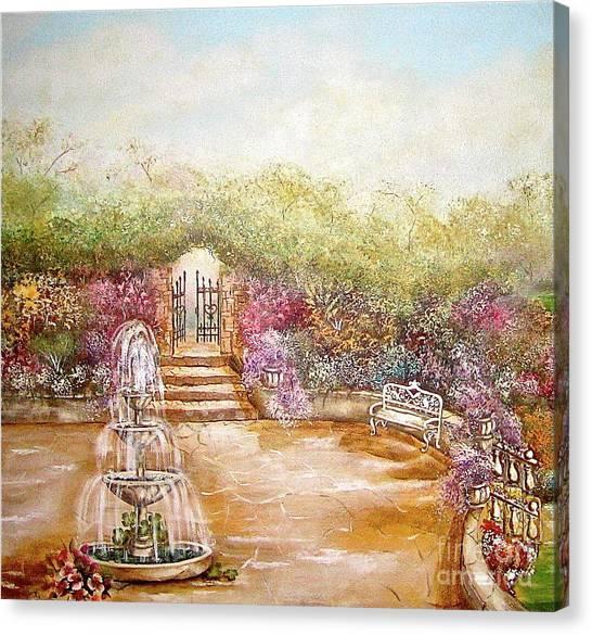 The Fountain Canvas Print by Elizabeth Gomez