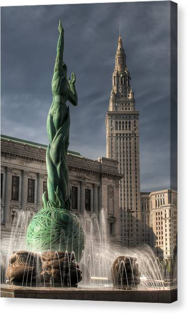 The Fountain Of Eternal Life Canvas Print