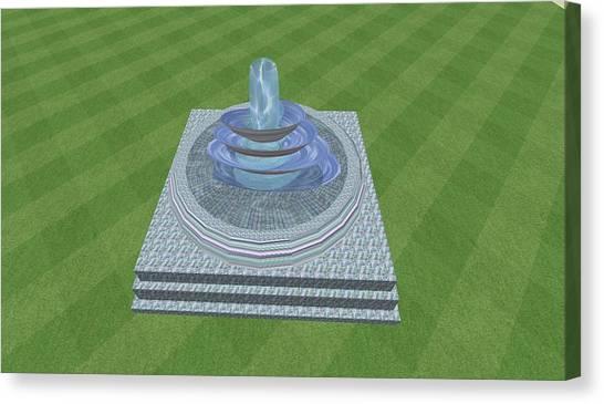 The Fountain Canvas Print by Thomas Smith